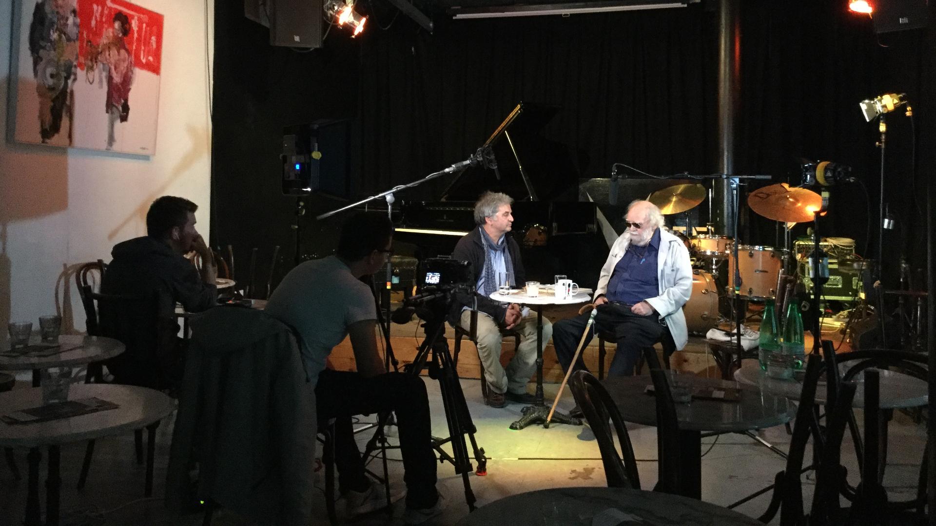"""RJR-Mitglied Oliver Weindling im Gespräch mit John Jack, Mitbegründer des Labels """"Cadillac"""" und von 1965-1967 Leiter des """"Ronnie Scott's Jazz Club""""."""